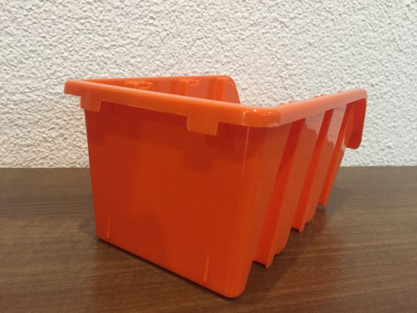 "L63B Pegboard bins with their 31"" x 31"" overall dimensions includes 45 small and 18 large plastic storage containers."