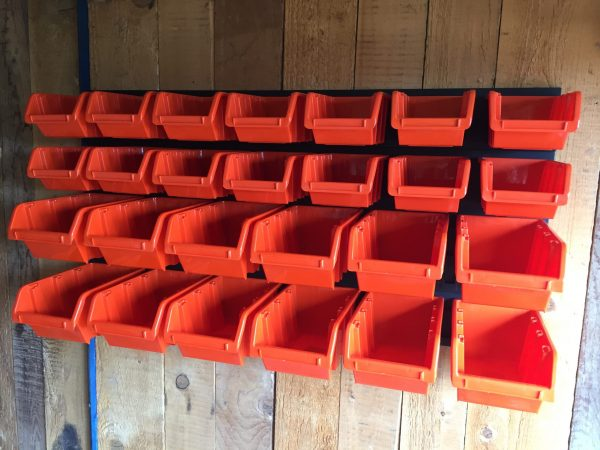 With Pegboard Organizer Bins M26 you will have everything you really need for storing small garage items. Bins are even impervious to most chemicals and oils.