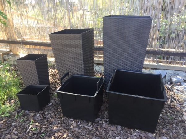 Rattan Style Tall Square Planter is an attractive combination of glamour and functionality. The ideal addition to your gazebo, pool, cafe or restaurant.