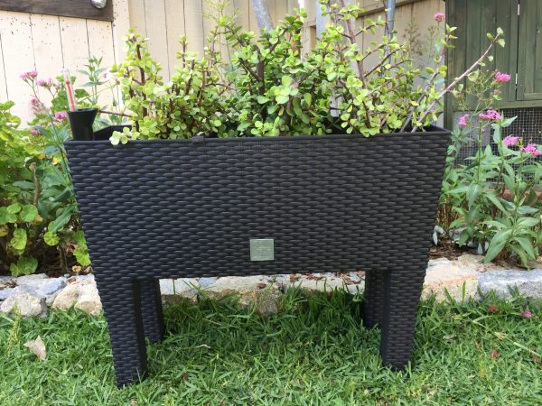 "24"" Rattan-Style Raised Rectangular Planter"