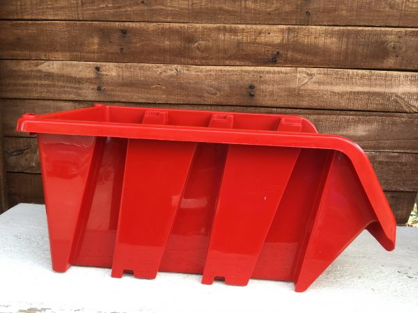 """Perfectly stackable industrial storage bins for hardware, auto parts not even in warehouse, store or garage. They are 15.5"""" long, 9"""" wide and 7"""" high."""