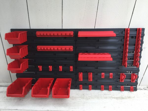 Pegboard Tool Organizer MT1 is an inexpensive wall-mountable storage solution for screwdrivers, drill bits, hand tool and even small bolts or another items.