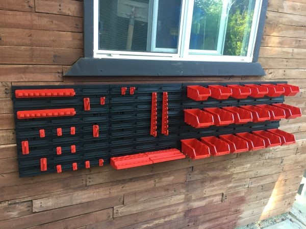 Tool Organizer Wall is one of the most cool garage ideas. Screwdrivers, drill bits, bolts, nails and another garage stuffs will find their place right there!