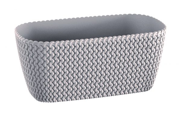 Give your home a new stunning look with these modern flower pots which pattern faithfully resembling hand-knitted woven. Pouf Plastic Planter Box belongs to the family of our Pouf Planters and you can freely combine them together. You can choose from different modern colors. It is also an ideal window planter box.